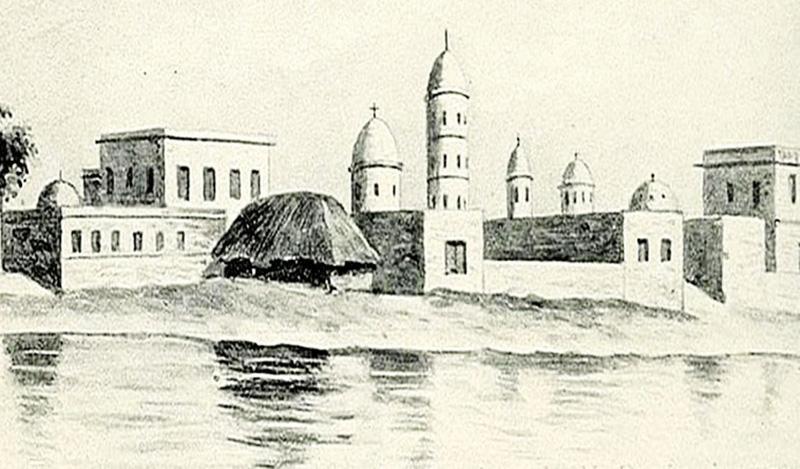 ১৭৫৬ সালে গঙ্গার খাঁড়ি বা 'ক্রিক'। কাছেই জোব চার্নকের সমাধি