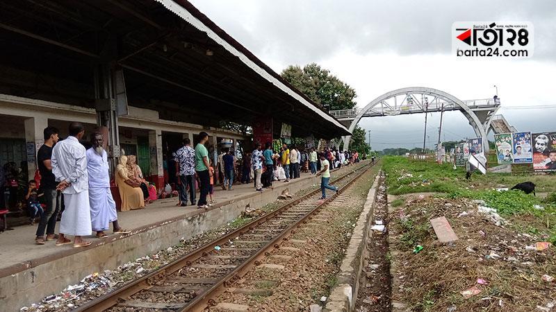 ব্রাহ্মণবাড়িয়ার আশুগঞ্জ রেলওয়ে স্টেশন, ছবি: বার্তাটোয়েন্টিফোর.কম