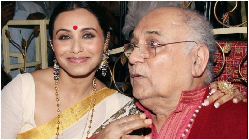 বাবা রাম মুখার্জির সঙ্গে রানি মুখার্জি