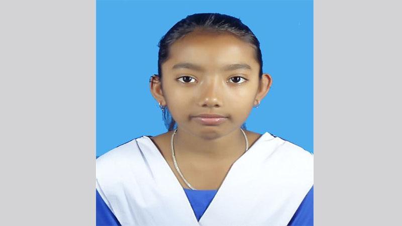 স্কুলছাত্রী রুবাইয়া আক্তার, ছবি: সংগৃহীত