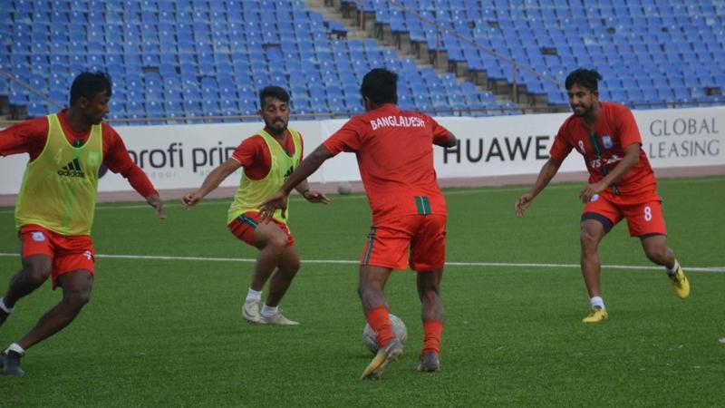 বাংলাদেশ ফুটবল দলের সামনে আজ আফগান চ্যালেঞ্জ- ছবি: বাফুফে