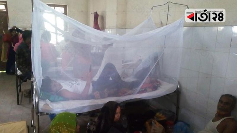 শেবাচিম হাসপাতালে চিকিৎসাধীন ডেঙ্গুরোগী/ ছবি: বার্তাটোয়েন্টিফোর