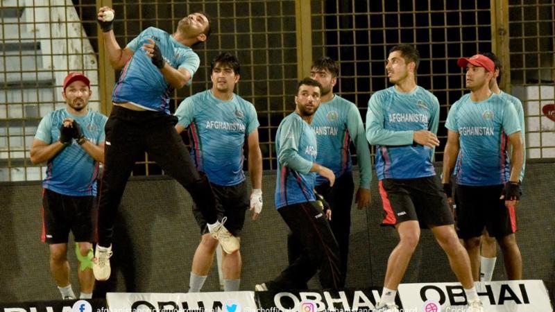 অনুশীলনে ব্যস্ত আফগানিস্তান ক্রিকেট দল