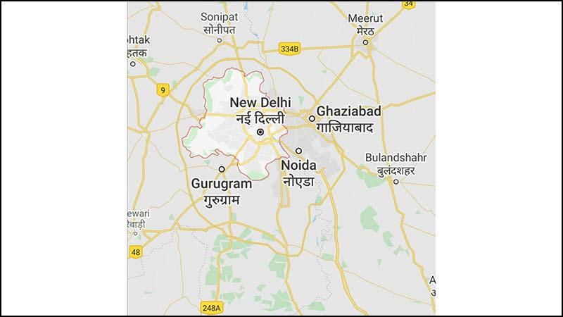 Map of Delhi, Photo: Collected