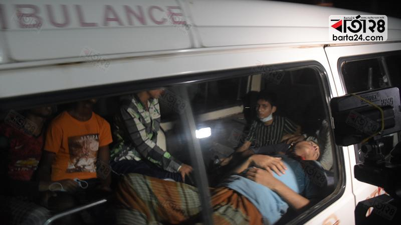 The injured were taken to hospital