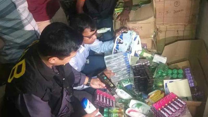Raids against fake cosmetics in the capital