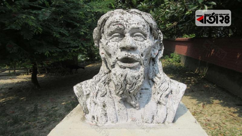 মরমী কবি পাগলা কানাইয়ের ভাস্কর্য, ছবি: বার্তা২৪.কম