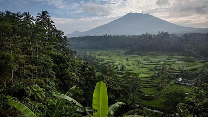 ইন্দোনেশিয়ার বালি দ্বীপে আগুং মাউন্ট, ছবি: সংগৃহীত