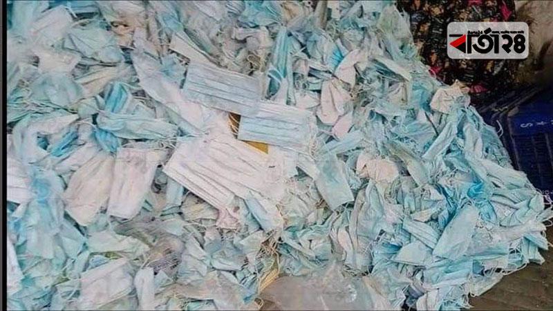 হাসপাতালের ব্যবহৃত মাস্ক ধুয়ে বিক্রি করা হতো, ছবি: বার্তা২৪.কম