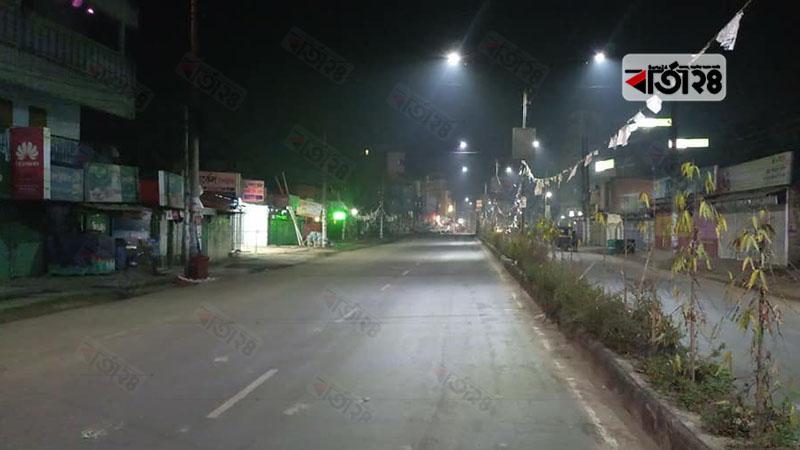 রাত ৮টার পর মৌলভীবাজারে দোকানপাট বন্ধ