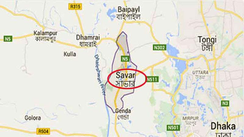 সাভার উপজেলার মানচিত্র, ছবি: সংগৃহীত