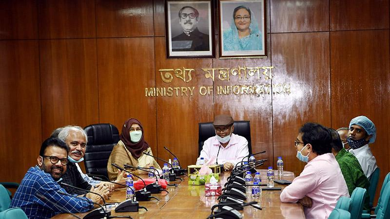 Information Minister and the Joint General Secretary of the Awami League Dr. Hasan Mahmud