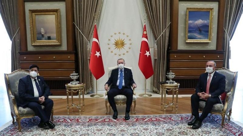 Meeting between Turkish president Erdogan and Bangladesh foreign minister