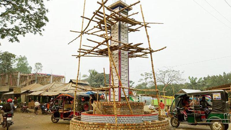 রংপুরে নির্মিত হচ্ছে দৃষ্টিনন্দন আল্লাহু স্তম্ভ, ছবি: সংগৃহীত