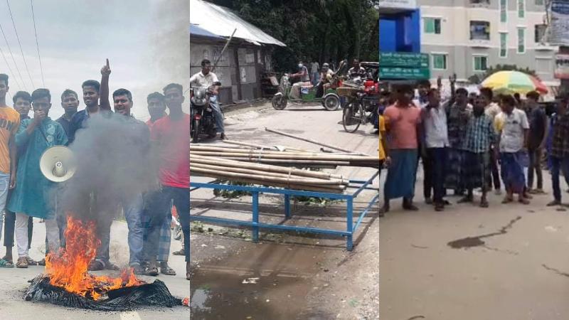 প্রতিবাদ-প্রতিরোধে থমথমে কোম্পানীগঞ্জ