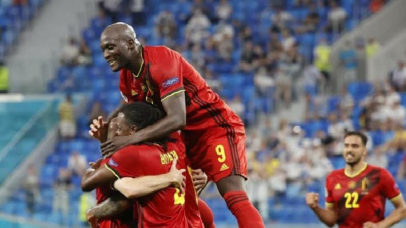 বেলজিয়ামের ফুটবলারদের গোল উদযাপন