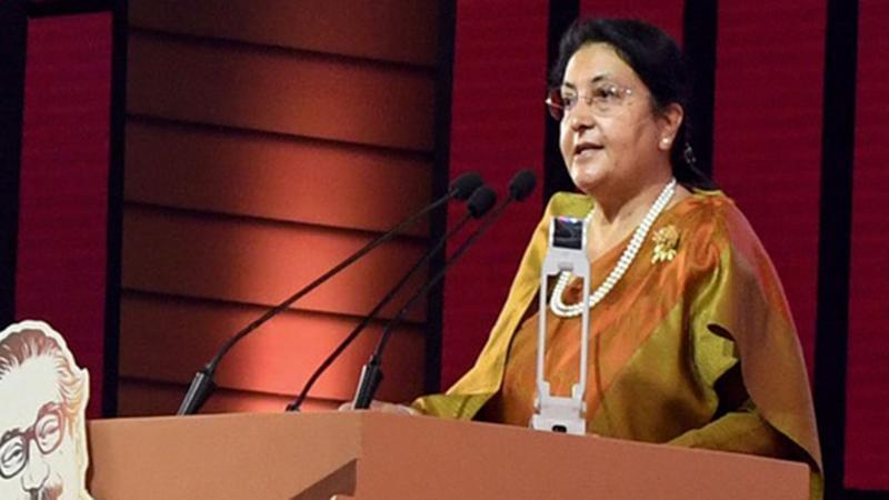 Nepal's President Vidya Devi Bhandari