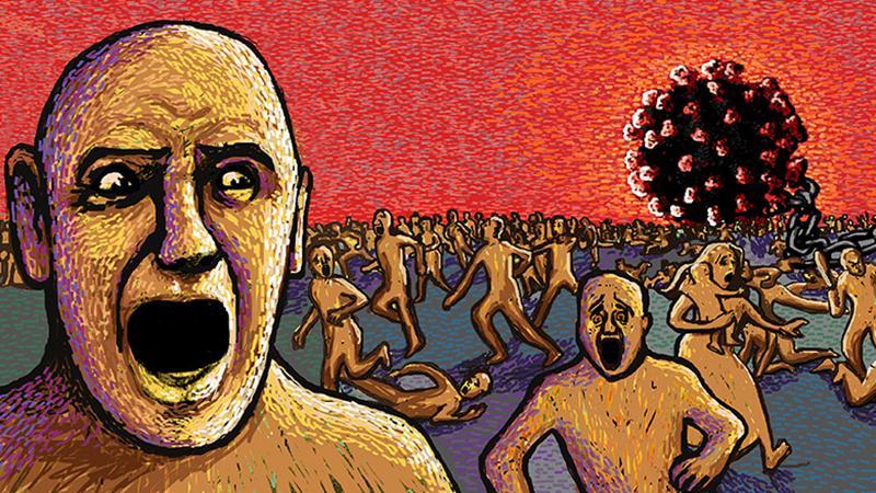 করোনার আতঙ্ক। সংগৃহীত প্রতীকী ছবি।