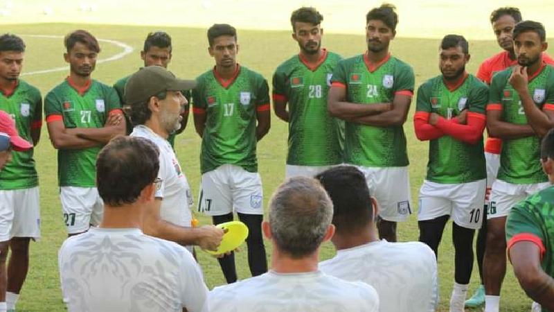Players of Bangladesh Football Team