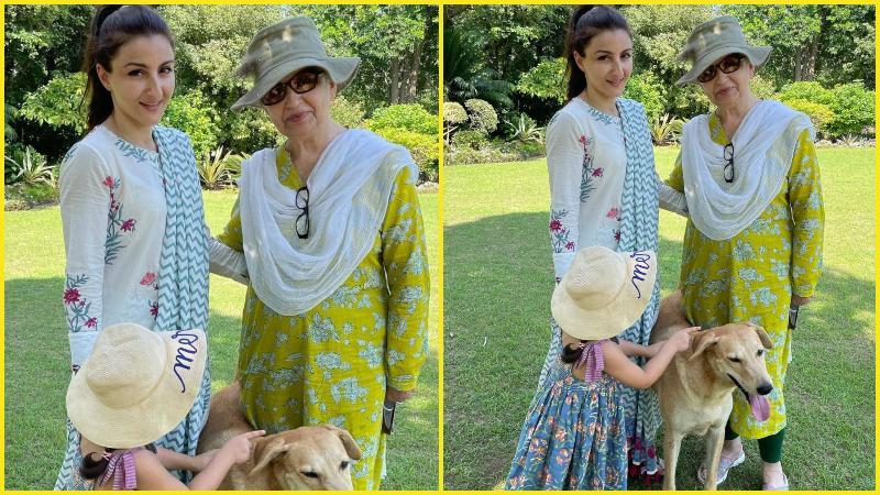 মা ও মেয়ের সঙ্গে সোহা আলি খান